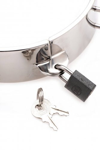 Stainless Steel Locking Bondage Collar Close Up