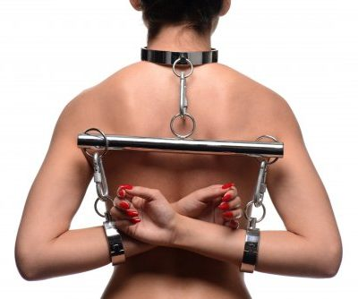 Stainless Steel Yoke with Collar and Cuffs Back Demo
