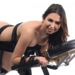 The Obedience Bench With Restraints With Model Close Up