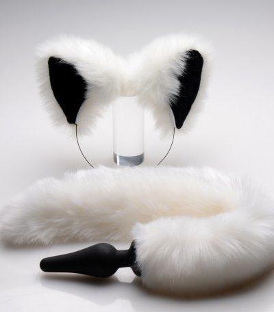 White Fox Ears & Tail Set