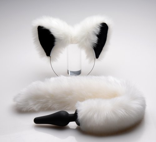 White Fox Ears & Tail Set