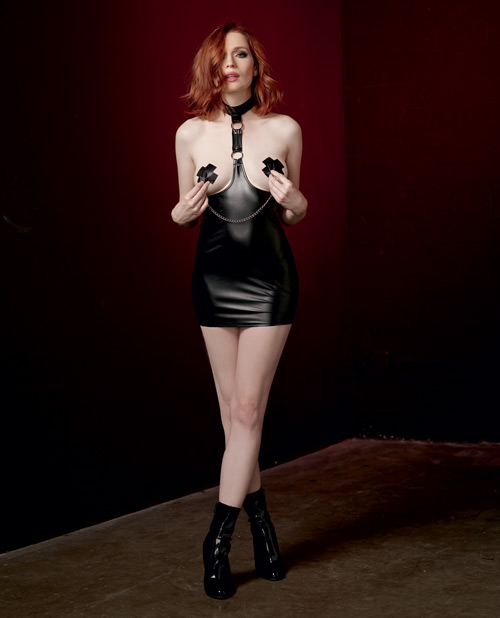 Faux Leather Harness Chemise