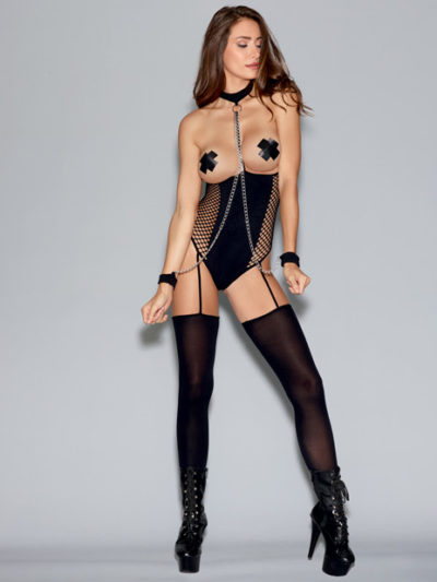 Open-Cup Teddy Bodystocking