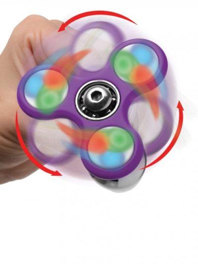 Light Up Fidget Spinner Anal Plug Lite Up