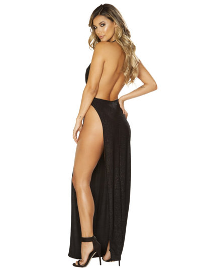 Shimmering Seduction Maxi Dress Back