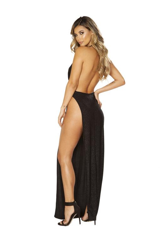Shimmering Seduction Maxi Dress Back