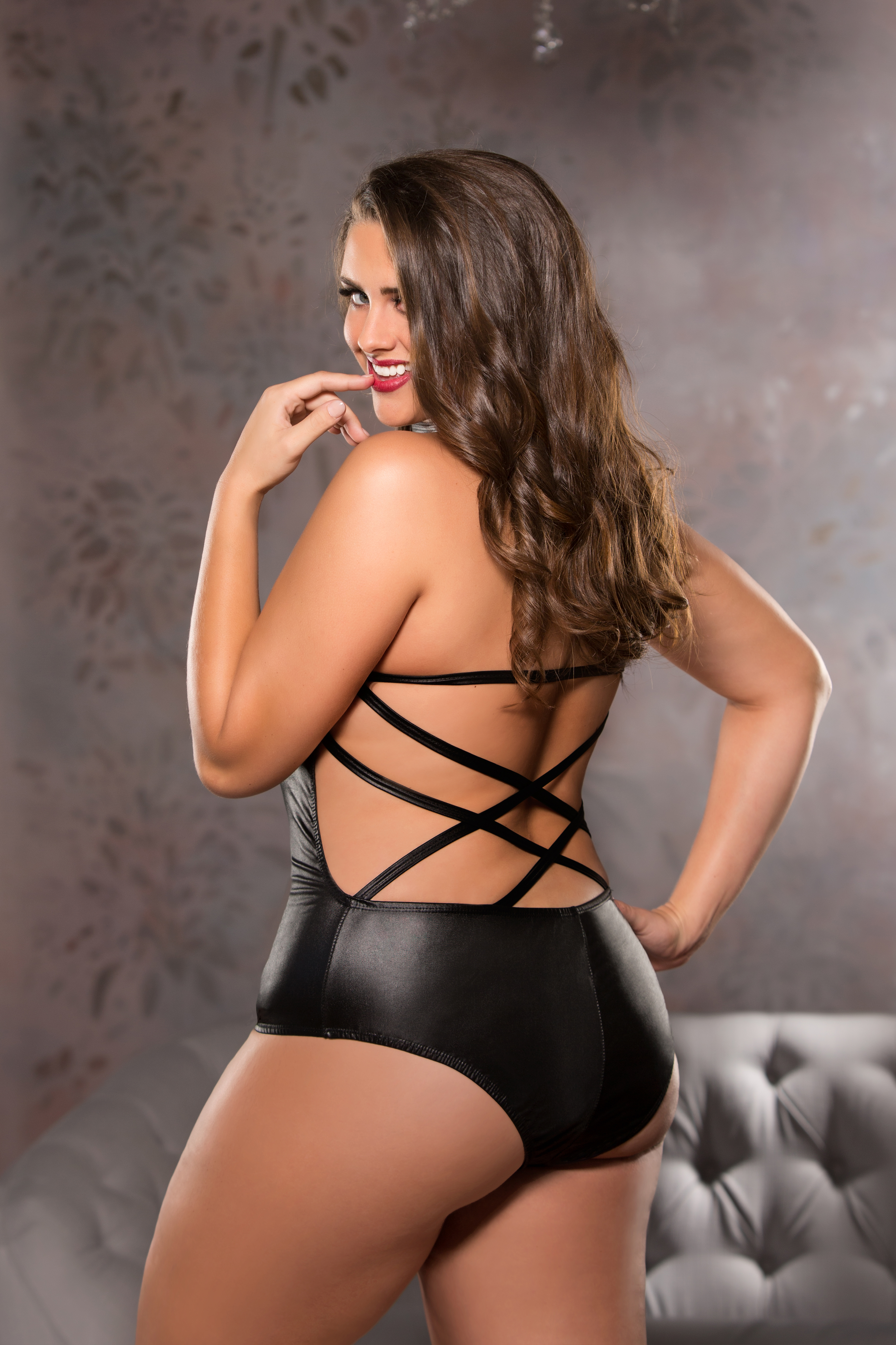 Crossing Desires Teddy Plus Size Back