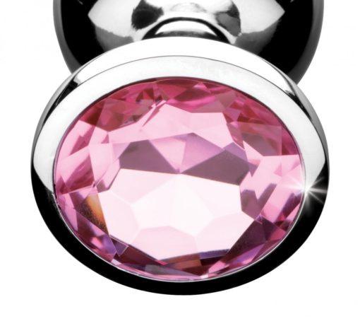 Pink Jeweled Anal Plug Close Up