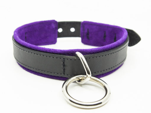 O Ring Submissive Training Collar Purple