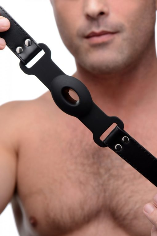 Hollow Silicone Gag With Male Model